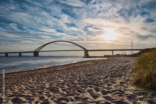 Plakat Most Fehmarnsund na wyspę Fehmarn nad Bałtykiem