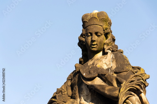 Fotografie, Obraz  Statue of Saint Vitus from Ferdinand Maxmilian Brokoff 1714 on Charles Bridge ne