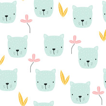 Seamless Pattern With Pastel F...