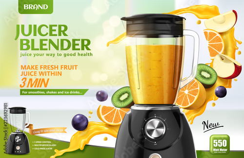 Photo Juicer blender ads