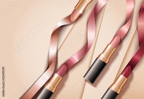 Fashion lipsticks ads Fototapet