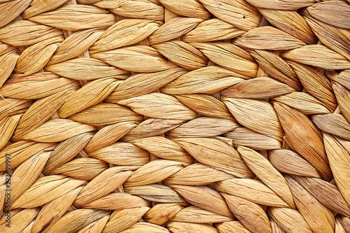 Fotografía  Wicker basket Texture, Handmade Natural Wicker Work Background