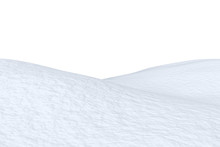 Snowy Field With Hills Isolated