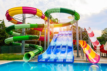 Water Park, Slides Near The Pool, Summer Holidays