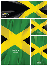Abstract Jamaica Flag Background
