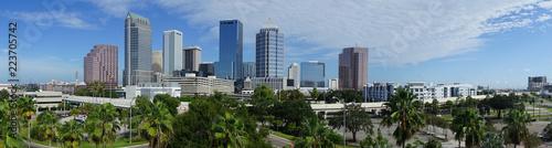 Carta da parati Urban Panoramic Downtwon City Skyline of Tampa Florida