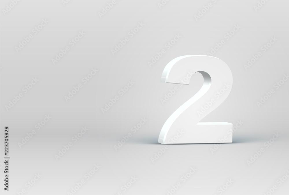 Fototapeta High detailed 3D font character, vector illustration