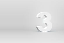 High Detailed 3D Font Character, Vector Illustration