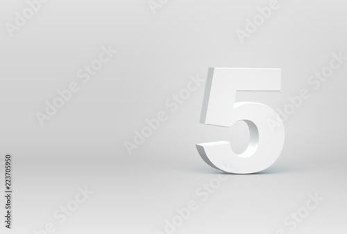 Leinwand Poster High detailed 3D font character, vector illustration