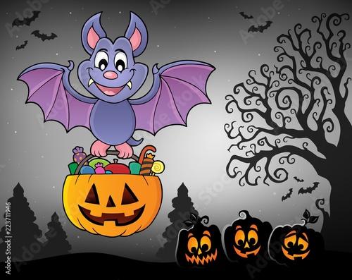 Halloween bat theme image 7