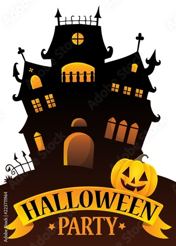 Halloween party sign composition image 4