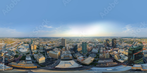 Poster Texas Aerial spherical 360 vr photo Fort Worth Texas USA