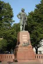 Monument To Composer Mikhail Glinka In Saint-Petersburg