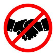 No Handshake Icon. Vector Illu...