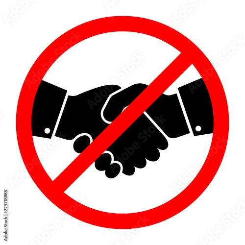 No Handshake icon. Vector illustration Fototapete