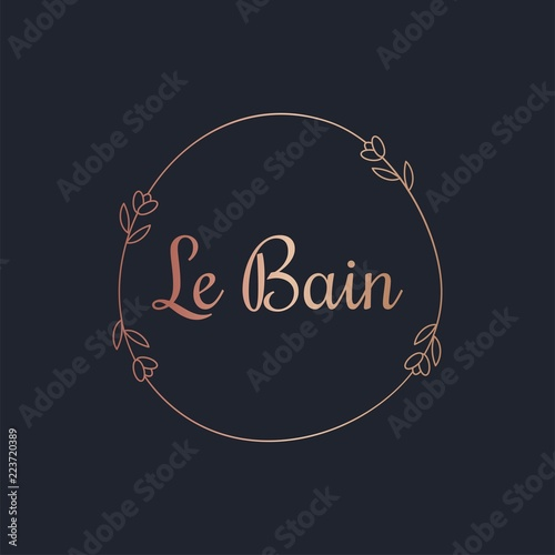 Canvas Print Beautiful decorative Le Bain label vector