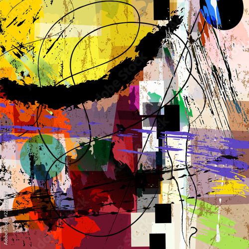 abstract vector artwork,rough painting style, grungy style