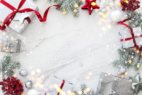 Fotografie, Obraz  Christmas and New Year holiday background