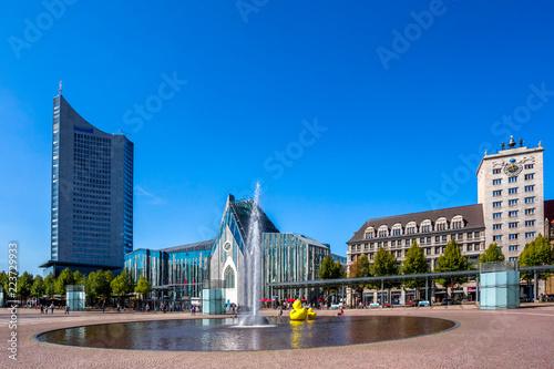 Foto auf AluDibond Europäische Regionen Leipzig, Augustusplatz