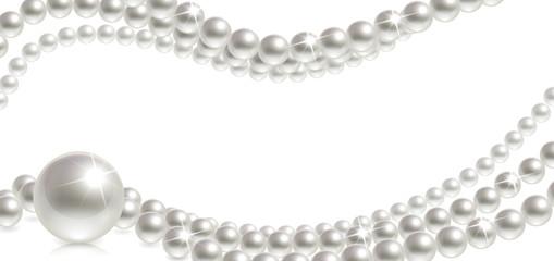 Baner z perłami