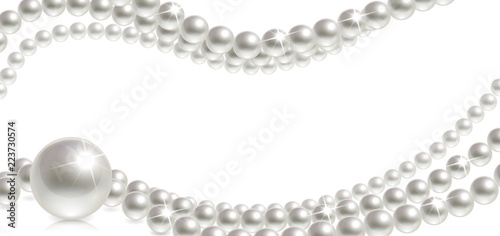 Banner with Pearls Wallpaper Mural