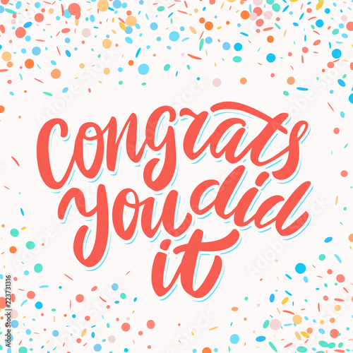 congrats you did it congratulations banner adobe stock でこの