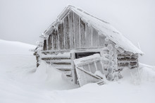 Abandoned Cabin In Snow After ...