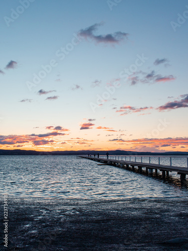 Sunset view at Long Jetty, NSW, Australia.