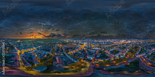 VR 360° Nacht Skypanorama Ludwigshafen Mannheim