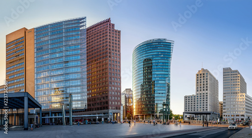 Poster de jardin Europe Centrale panoramic view at the potsdamer platz, berlin