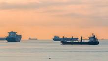 Early Morning Scene Of Cargo S...