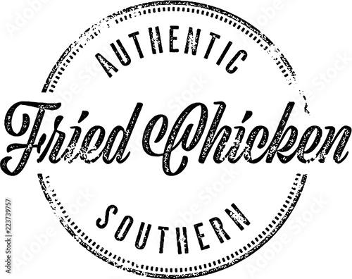 Southern Fried Chicken Restaurant Menu Sign Wall mural