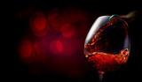 Wine on dark red - 223742999