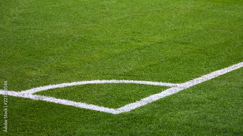 Fotografie, Obraz  closeup of football (soccer) field with green grass