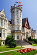 a Magdalena Royal Palace, now campus of the International University Menendez Pelayo in Santander, Spain, Europe