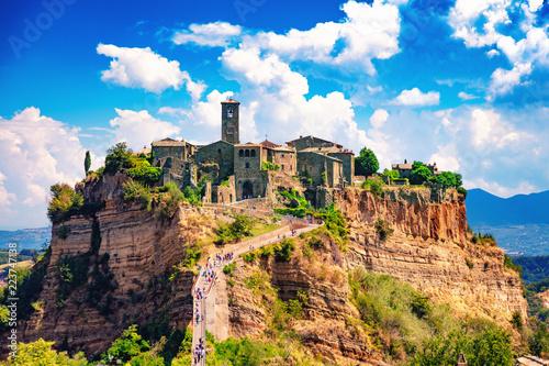 Civita di Bagnoregio, Viterbo, Latium, Italie, 18 août 2018: Vue de la cité médi Canvas Print
