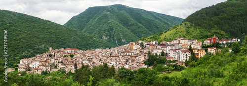 Scanno, a village in the National Park of Abruzzo (Italy) Wallpaper Mural