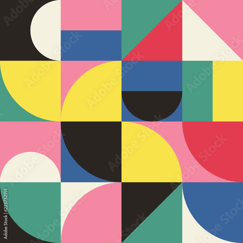 Cuadros en Lienzo Abstract Geometry Pattern Graphic 11
