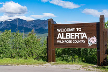 Welcome To Alberta Canada Road...