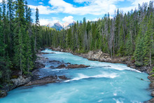 Glacier River In Yoho National...