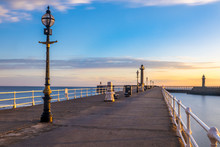 Whitby Pier, Whitby,  Yorkshire, North East Coast UK