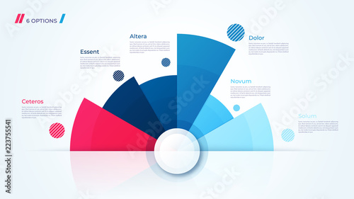 Vector circle chart design, template for creating infographics