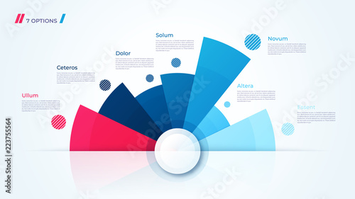 Fotografía Vector circle chart design, template for creating infographics