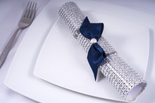 Wedding Table Place Setting With A Traditional Cracker