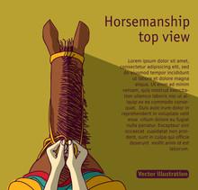 Horsemanship Shadow Riding Flat Top View