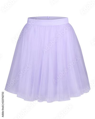 Fotografie, Obraz  Pale lila violet glamour tulle ballerina skirt isolated on white