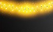 Glowing Christmas lights isolated realistic design elements. Garlands, Christmas decorations lights effects