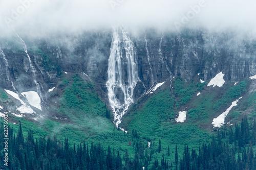 Fotografia, Obraz  Bird Woman Falls, Glacier National Park, Montana