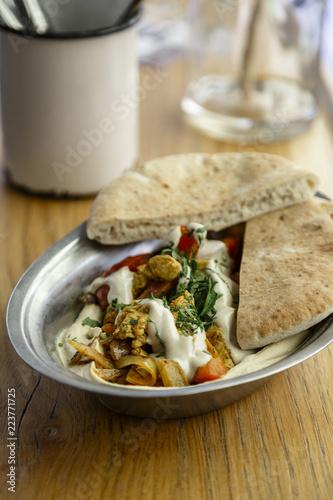 Spoed Foto op Canvas Eten Middle eastern food, Vienna, Austria.