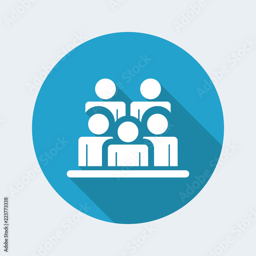 Photo Vector illustration of single isolated people group icon